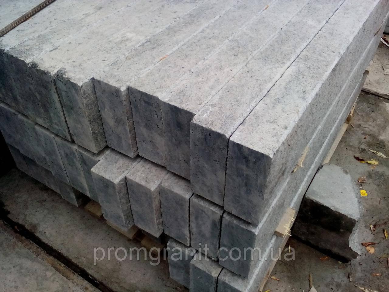Бордюр гранітний сірий 20*3*L