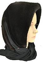 Платок-Капюшон Норковый Черный 055ШП, фото 1