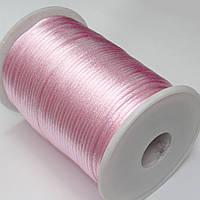 Шнур корсетный (сатиновый, шелковый) 2мм цена за 100 ярдов. Цвет - РОЗОВЫЙ