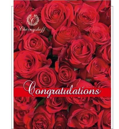 Полиэтиленовый пакет с прорезной ручкой ''Роза красная'' 290*370, 10 шт