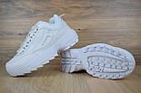 Женские кроссовки в стиле Fila Disruptor II белые с ободком. Живое фото, фото 3