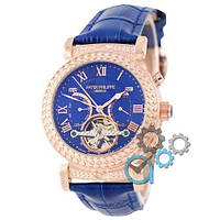 Мужские наручные часы Patek Philippe Grand Complications Power Tourbillon Blue-Gold-Blue реплика