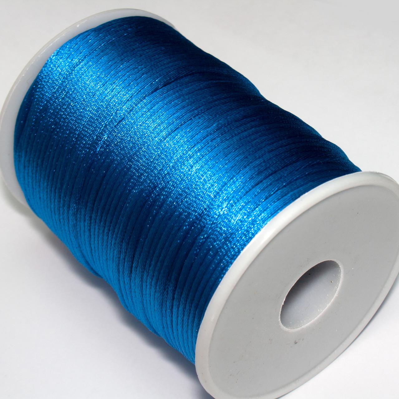 Шнур корсетный (сатиновый, шелковый) 2мм цена за 100 ярдов. Цвет - ЛАЗУРНЫЙ