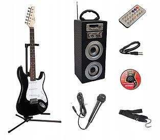 Гитарный набор (Єлектрогитара стойка  гитарный комбоусилитель микрофон ремень)