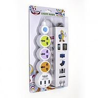 Сетевой фильтр-удлинитель 220V (3 розетки + 3 USB) LH304