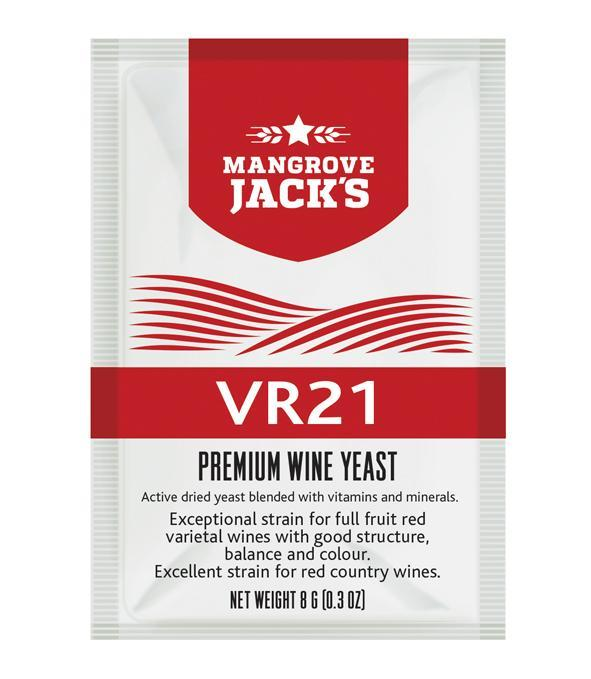 Дрожжи для красных вин Mangrove Jack's VR21 (Н.Зеландия)