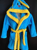 Махровый детский халатик с ушками.
