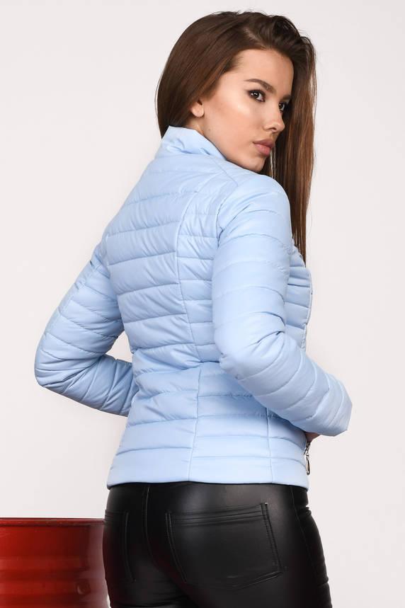 Курточка женская короткая весна-осень голубая, фото 2