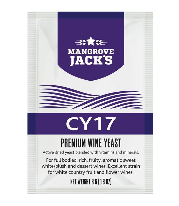 Дрожжи для белых десертных вин Mangrove Jack's CY17 (Н.Зеландия)
