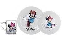 Детский столовый сервиз Luminarc Disney Minnie Colours 3 предмета