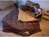 Полуторный комплект постельного белья на резинке Сатин однотонный /микс / Постільна білизна сатин / 5A12C2 - 2113
