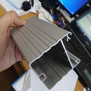 Фотография алюминиевого профиля, из которого производятся подвесные потолочные линейные светодиодные ЛЕД LED светильники