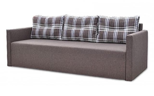 Диван Сити (серый + подушки клетка)