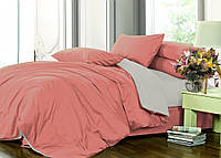Семейный комплект однотонного постельного белья из сатина / Сімейний комплект постільної білизни / 5A12C2 - 2176