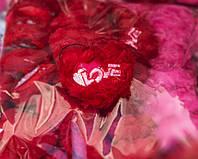 Брелок Сердце Мягкая Игрушка Подарок на День Влюбленных в Упаковке 10 шт