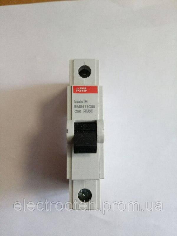 Автоматический выключатель ABB (1Р, 50А, C) 4.5кА
