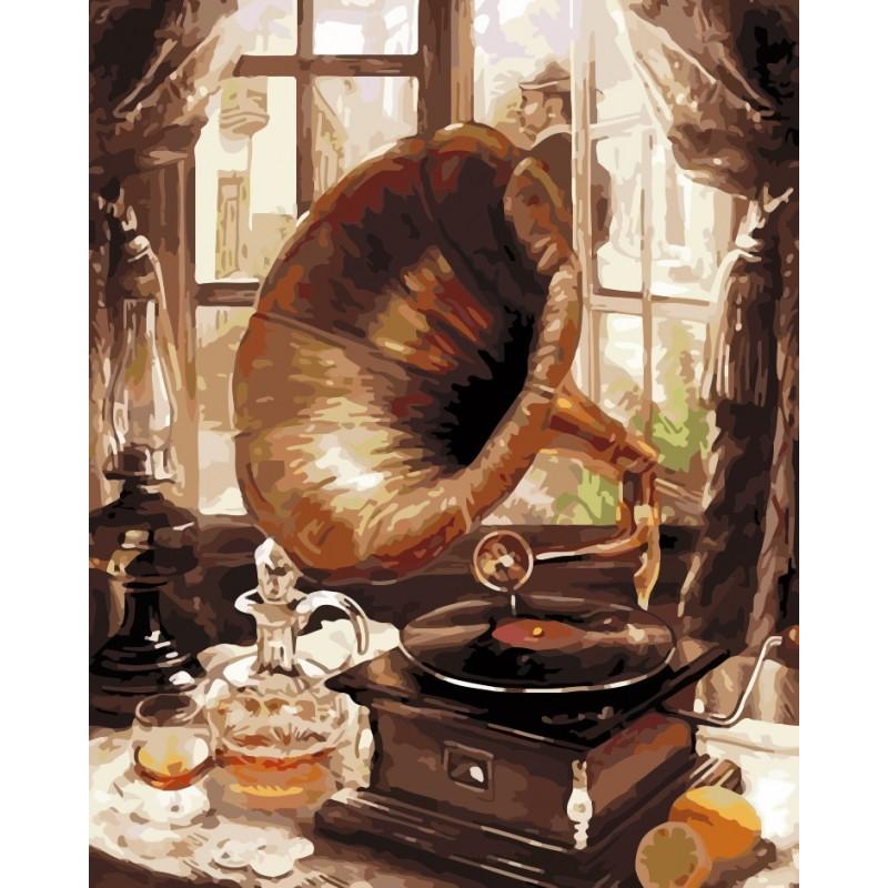 "Роспись по номерам ""Старый граммофон"" в кор. 40*50см, ТМ ArtStory Артикул: AS0202 Ухти-Тухти Кривой Рог"