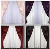 Готовые плотные шторы ткань софт в гостинную,спальню цвета в ассортименте цвета в наличии в рулонах