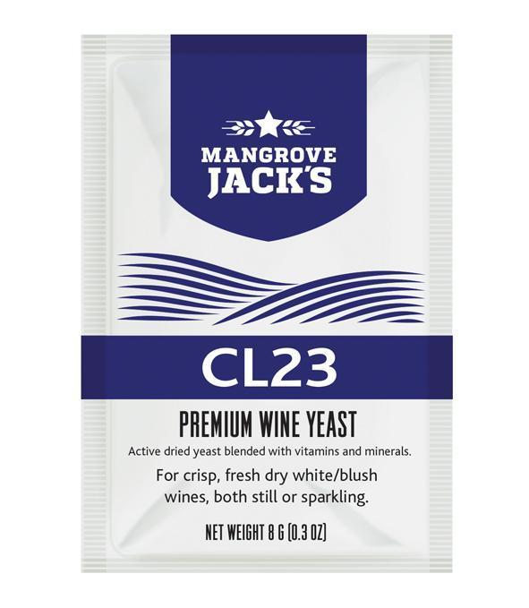 Дріжджі для ігристих і сухих вин Mangrove jack's CL23 (Н.Зеландія)