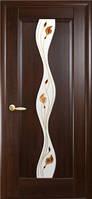 Дверное полотно Волна  со стеклом сатин и рисунком, фото 1
