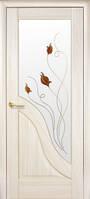 Дверное полотно Амата  , глухое,с гравировкой, со стеклом сатин и рисунком