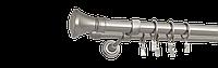 Карниз двойной 200см D25/19мм сатина никель COLOSSEO