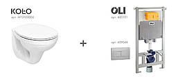 Комплект Унитаз KOLO IDOL+ Инсталляция OLI+кнопка
