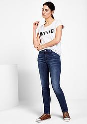 Джинсы женские темно синие Sissy Slim Soft & Perfect от Mustang jeans в размере W28/L34