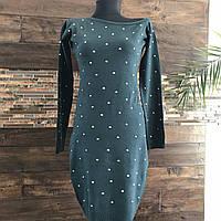 Женское платье Lefon. Размер универсал 42-46. Цвет бутылка и черный