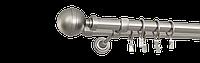 Карниз двойной 160см D25/19мм сатина никель KALISTO