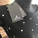 Женское платье Lefon 2. Размер универсал 42-46. Цвет бутылка и черный, фото 2