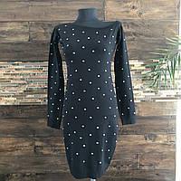Женское платье Lefon 2. Размер универсал 42-46. Цвет бутылка и черный