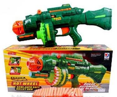 Детский пулемет 40 мягких патронов, звуковые эффекты, 7002