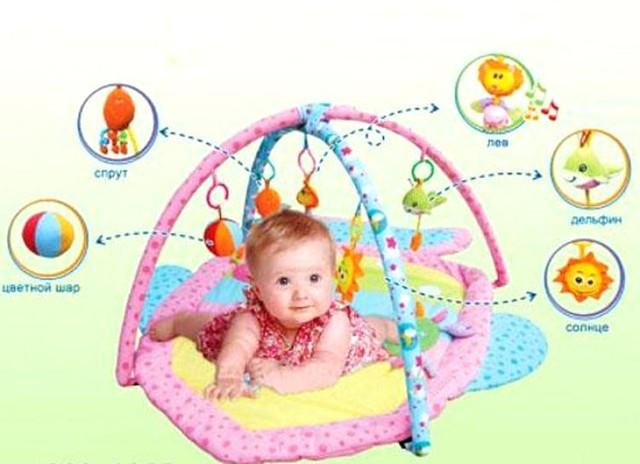 Детский развивающий коврик (в форме рыбки) 898-13 В