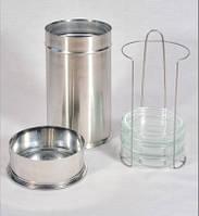 Пенал с крышкой и штативом для стерилизации чашек Петри 120*300