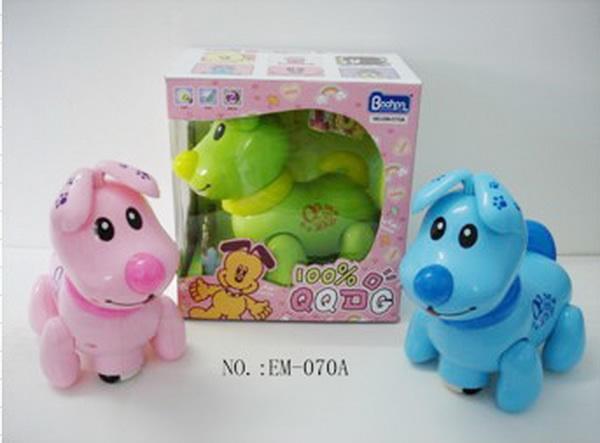 Игрушка на батарейках Собачка 070А, зеленая, розовая, голубая