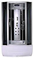 Душевая кабина гидромассажная Liveno ATENA с поддоном в комплекте, стекло графитовое, 120*85 см, фото 1