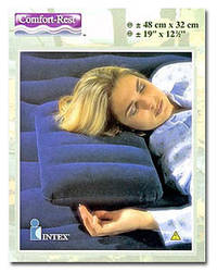 Подушка надувная флокированная Intex 68672 (48х32х9см)