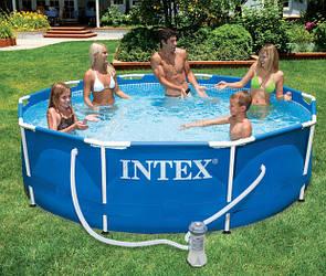 Каркасный бассейн Intex 305х76 см, 26702 (28202) с фильтрующим насосом