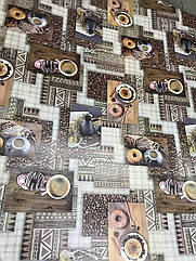 Клейонка на стіл Dekorama Каву з пончиками