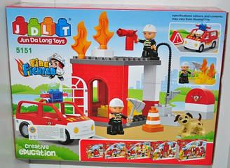 Конструктор JDLT Пожарная машина 5151, дет.32