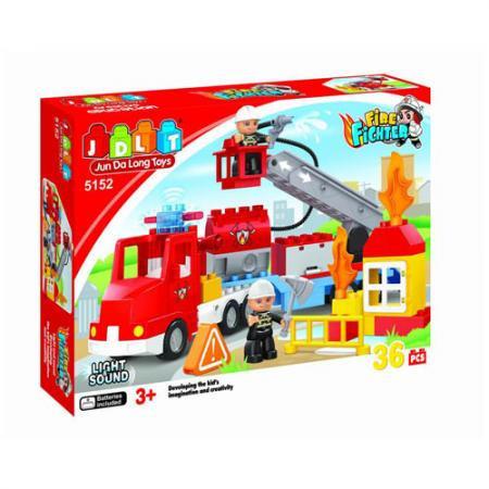 Конструктор JDLT 5152 Пожарная машина, 36 дет.
