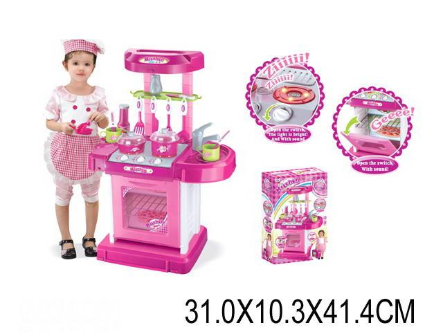 Детский игровой набор «Кухонный гарнитур» 008-58 розовая