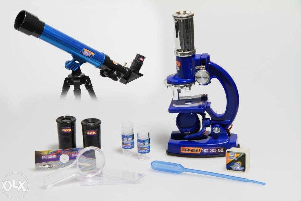 Детский оптический набор (микроскоп + телескоп) CQ-031