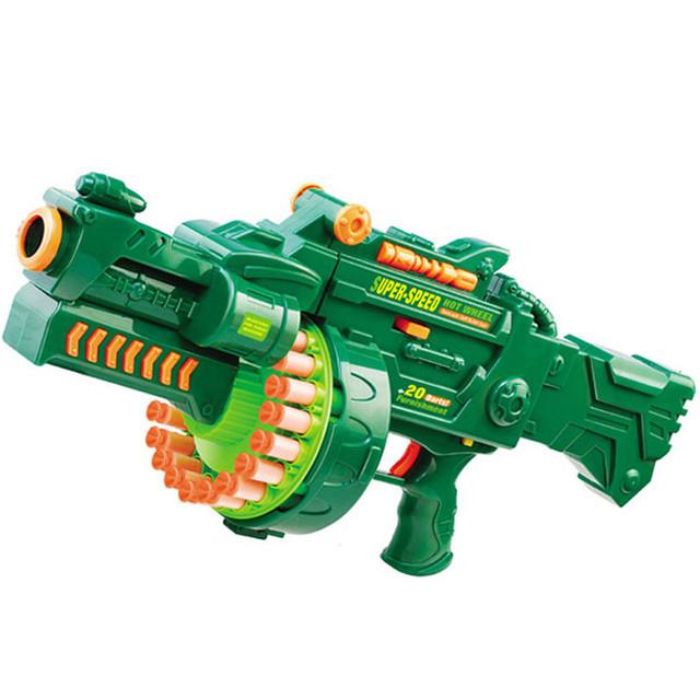 Детский пулемет 7001 с мягкими пулями, звук, на батарейках
