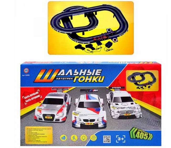 Детский автомобильный гоночный трек 02989 от сети, в кор-ке, 63-38-6см
