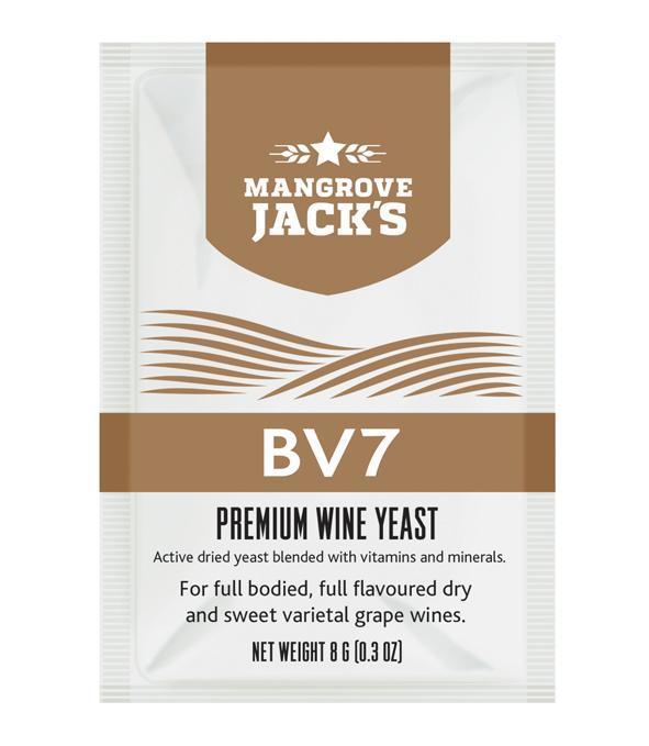 Дрожжи для белых вин Mangrove Jack's BV7 (Н.Зеландия)