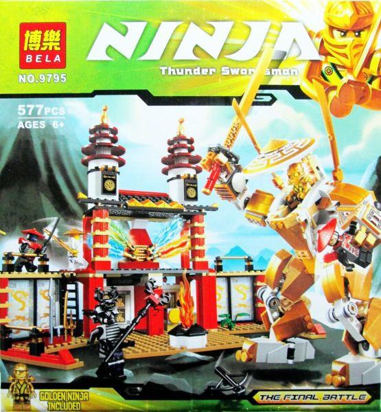 Конструктор Ninja Финальная битва или Храм света 9795, дет. 577