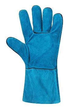 Перчатки рабочие кожаные длинные с подкладкой (краги) СП-20
