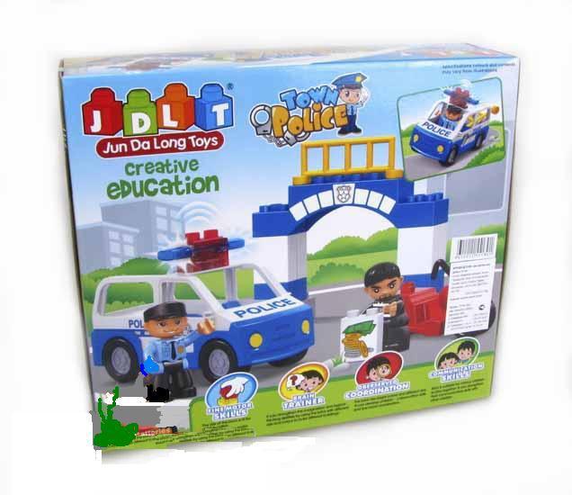 Конструктор JDLT 5130 Полиция (21эл.) в коробке